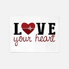 Love Your Heart 5'x7'Area Rug