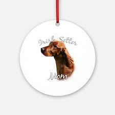 Irish Setter Mom2 Ornament (Round)