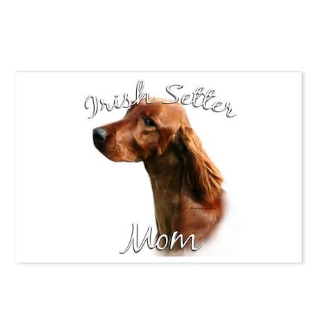 Irish Setter Mom2 Postcards (Package of 8)