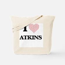 I Love Atkins Tote Bag