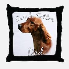 Irish Setter Dad2 Throw Pillow