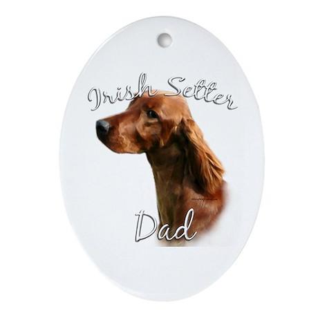 Irish Setter Dad2 Oval Ornament