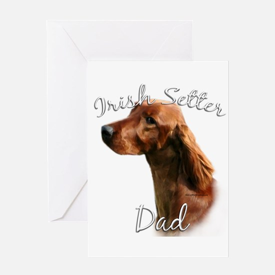 Irish Setter Dad2 Greeting Card