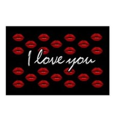 I Love You Kisses Postcards (Package of 8)