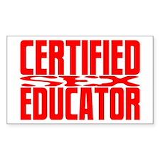 Certified SEX Educator Rectangle Stickers