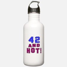 42 and hot birthday Water Bottle