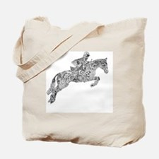 Funny Show jumping Tote Bag