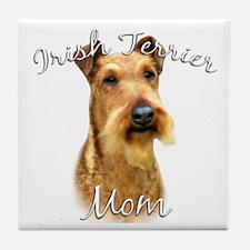 Irish Terrier Mom2 Tile Coaster