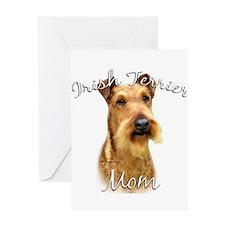 Irish Terrier Mom2 Greeting Card