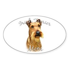 Irish Terrier Mom2 Oval Decal