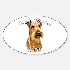 Irish Terrier Mom2 Oval Decal
