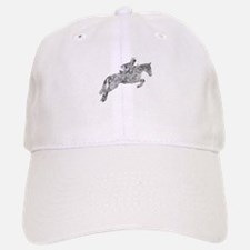 Horse Jumping Doodles Baseball Baseball Cap