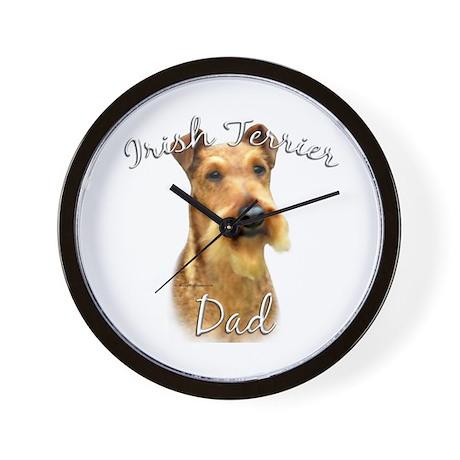 Irish Terrier Dad2 Wall Clock