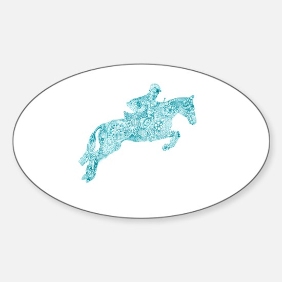Funny Equine Sticker (Oval)