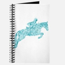 Doodle Horse Show Jumping Illustration Tur Journal