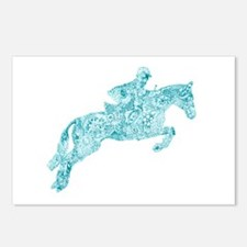 Doodle Horse Show Jumping Postcards (Package of 8)