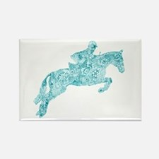 Doodle Horse Show Jumping Illustration Tur Magnets
