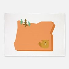 State Of Oregon 5'x7'Area Rug