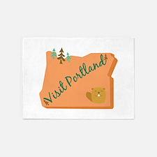 Visit Portland 5'x7'Area Rug