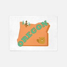 Beaver State Oregon 5'x7'Area Rug