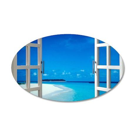 open window with ocean view wall sticker by wickeddesigns4 wall decal good look ocean decals for walls ocean window