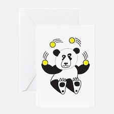 Juggling Panda Greeting Cards
