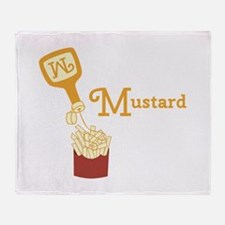 Mustard On Fries Throw Blanket
