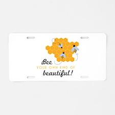 Bee Beautiful Aluminum License Plate