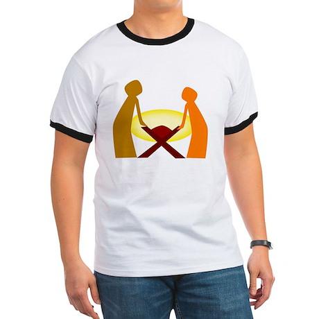Women's Butterscotch Puppy V-Neck T-Shirt