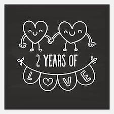 2nd Anniversary Gift Chalkb Invitations