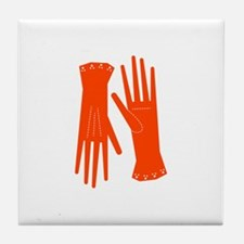 Ladies Gloves Tile Coaster