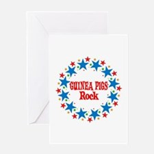Guinea Pigs Rock Greeting Card