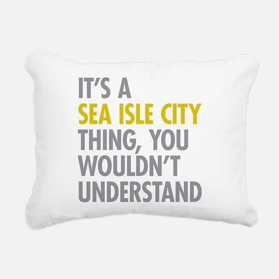 Sea Isle City Thing Rectangular Canvas Pillow