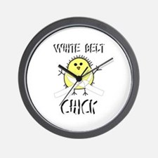 White Belt Chick Wall Clock