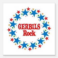 "Gerbils Rock Square Car Magnet 3"" x 3"""