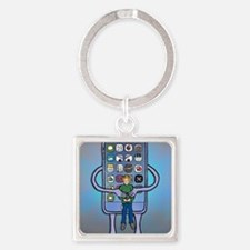 Cute End world Square Keychain