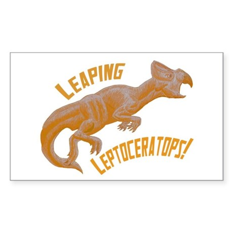 Orange Leptoceratops Rectangle Sticker