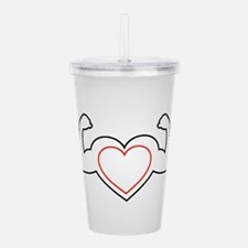 Cool Athletic training Acrylic Double-wall Tumbler