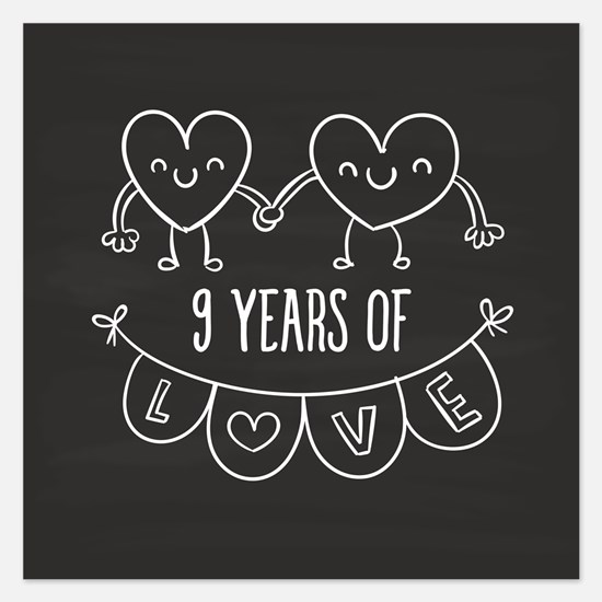 9th anniversary 9th anniversary invitations 9th anniversary 9th anniversary gift chalkb invitations negle Choice Image
