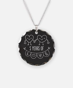 5th Anniversary Gift Chalkbo Necklace