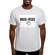Mouse Potato Ash Grey T-Shirt
