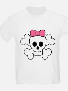 Unique Feminine skulls T-Shirt