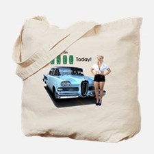 Test Drive An Edsel Today Tote Bag