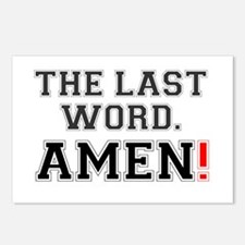 THE LAST WORD - AMEN! Postcards (Package of 8)