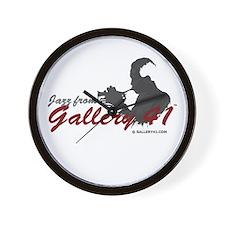 Jazz from Gallery 41 Logo Var Wall Clock