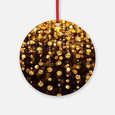Gold Sparkles Round Ornament