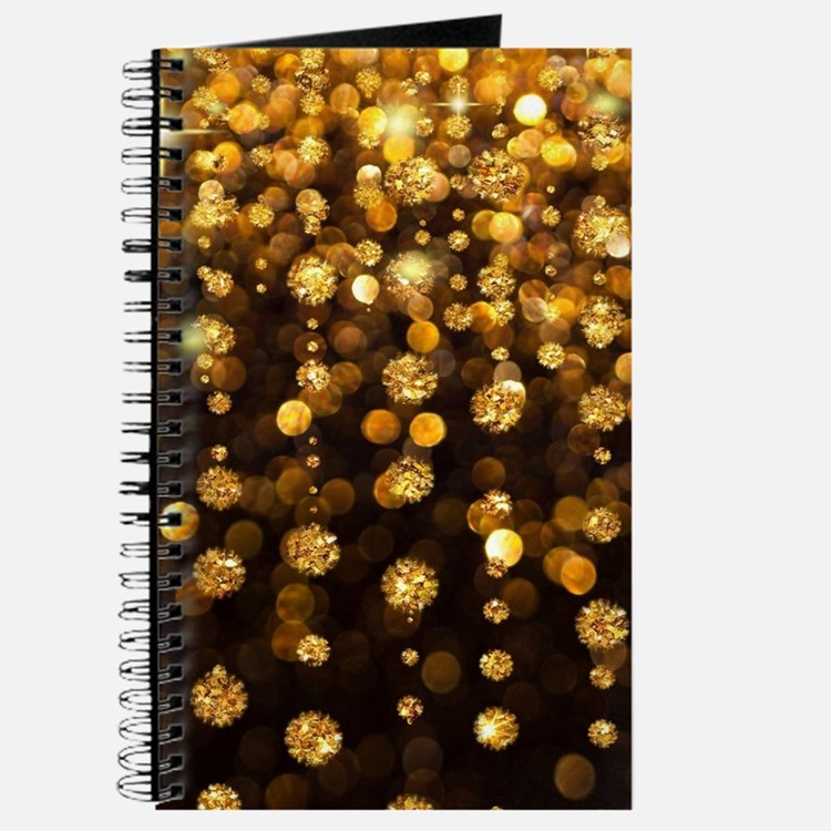 Gold Sparkles Journal