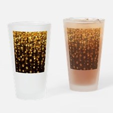 Gold Sparkles Drinking Glass
