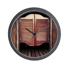 Wild West Saloon Door Wall Clock