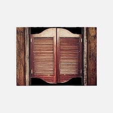 Wild West Saloon Door 5'x7'Area Rug